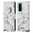 OFFICIAL JUVENTUS FOOTBALL CLUB MARBLE LEATHER BOOK CASE FOR HUAWEI PHONES