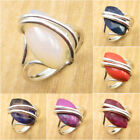 CHOICE OF SIZE ! 925 Silver Plated AUSTRALIAN OPAL & Other Gemstone ART Jewelry