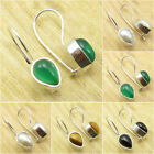 *Great Variety* 925 Silver Plated GREEN ONYX & Other Gemstones FASHION Earrings