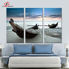 Oil Painting Wall Art Canvas Prints Beach Landscape Boat Modern Wall Pictures