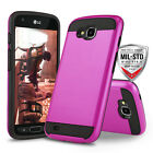 for LG X VENTURE, [Protech Series] Phone Case Shockproof Cover +Tempered Glass