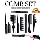 Professional Hairdressing Comb Sets for Hair Styling Detangler Barbers Combs Set