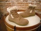 Bare Traps Adalyn Chestnut Brown Suede Water Resistant Ankle Boots NEW