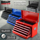 BULLET 9 Drawer Tool Box Chest Mechanic Garage Storage Toolbox Organiser Set