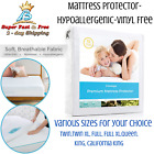 Waterproof Fabric Mattress Protector Bedding Sheet Bed Bug Hypoallergenic Cover  image