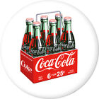 Coca-Cola 6 Pack Bottles Disc White Removable Wall Decal Button Style