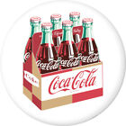 Coca-Cola 6 Pack Carton Disc White Removable Wall Decal Button Style