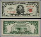 1963 $5 DOLLAR BILL US NOTE LEGAL TENDER PAPER MONEY CURRENCY  LT=E199
