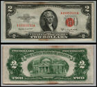 1953B $2 DOLLAR BILL OLD US NOTE LEGAL TENDER PAPER MONEY  RED SEAL  LOT E291