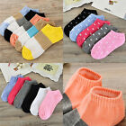 10pairs Women Casual Heart Candy Color Cotton Short Socks Ankle Boat Socks JR