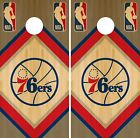 Philadelphia 76ers Cornhole Wrap NBA Game Board Skin Vinyl Decal Wood CO684 on eBay