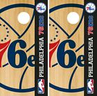 Philadelphia 76ers Cornhole Wrap NBA Game Board Skin Vinyl Decal Logo Set CO685 on eBay