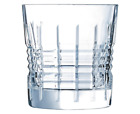 NEW CRISTAL D'ARQUES RENDEZ VOUS OLD FASHIONED TUMBLERS GLASSWARE GIFT BOX DECOR
