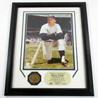 Mickey Mantle Framed Display Photo and Bronze Medallion Highland Mint DF024754