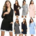 Avidlove Women Ladies Turn Down Neck Nightgown Lace Decor Tunic Slim DZ8801 01