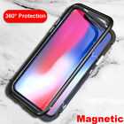 Magnetic Adsorption Metal Tempered Glass Luxury Case Cover For iPhone X 7 8 Plus