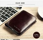 Men's Wallet Genuine Leather Short Male Purse Card Holder Fashion Clutch Elegant
