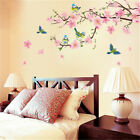Pink flowers and Bird Vinyl Wall Sticker Decal for Glass Win