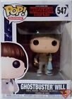 """GHOSTBUSTER WILL Stranger Things Pop Television 4"""" Vinyl Figure #547 Funko 2017"""