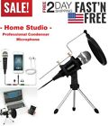 Professional Condenser Microphone, Home Studio, Iphone Android Recording, PC