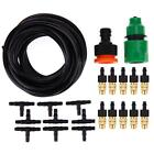 Micro Drip Irrigation System Nozzle Spray Connector Watering Garden Tools Kit US