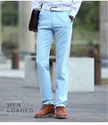 Mens Linen Slacks Thin Trousers Summer Office/Casual Flax Pant All Size 6colours