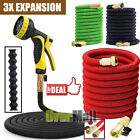 3X Stronger 25-100 FT Expandable Flexible Garden Water Hose w/ Nazzle US SHIP