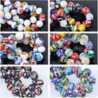 10pcs 10 14mm Round Millefiori Glass Loose Spacer Beads DIY Jewelry Findings