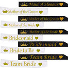 WHITE OR BLACK TEAM BRIDE HEN NIGHT PARTY DO SASH RIBBON WEDDING GIRLS NIGHT
