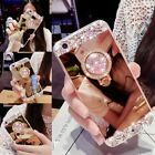 Fashion Mirror Phone Case Diamond Glitter Bling Skin With Ring Stand Phone Tools