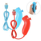 Nunchuck Controller Gamepad for Nintendo Wii/Wii U Video Games Console Blue/Red