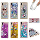 For Huawei P20/Pro/Lite Cute Pattterned Bling Glitter Liquid Quicksand Soft Case