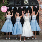 MAISIE Baby Blue/White Tea Lace 50's Vintage Inspired Bridesmaid Prom Dress SALE