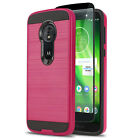 PROTECH COVER PHONE CASE FOR [MOTOROLA MOTO G6 / G6 PLAY] +BLACK TEMPERED GLASS