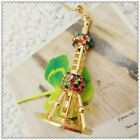 Fashion Crystal Oriental Pearl Tower Pendant Sweater chain necklac EE1021