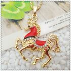 Fashion Crystal Horse Pendant charm Sweater chain necklac EE1016