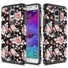 Samsung Galaxy Note 4 Case, Hard Impact Dual Layer Shockproof Bumper Case