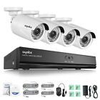 SANNCE 1080P POE 8CH 2MP Surveillance NVR Security IP Camera System Outdoor 4TB