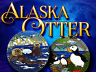 "Puffin Otter Alaska ""Caching the Last Frontier"" 3 Geocoin set  Christian Mackey"