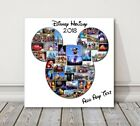 Disney holiday Micky Mouse shape canvas picture print. Photos arranged