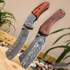 2PC BUCKSHOT SET Assisted CLEAVER Style Blade + CLEAVER SHAVER STYLE Pocket Knif