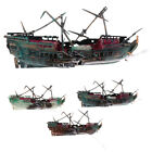 Aquarium Ornament Sunken Steamboat  Sailing Boat Ship  Tank Cave Wreck