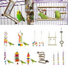 Colorful Parrot Swing Bird Toy Perch Rope Cage Toys Parakeet Cockatiel Budgie