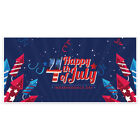 Patriotic Fireworks Happy 4th of July Party Banner Decoration