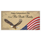Patriotic Flying Eagle Happy 4th of July Party Personalized Banner Decoration