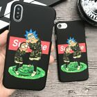 New supre Rick and Morty Matte hard plastic cover case for iphone 6 6S S 7 7plus