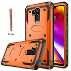 Case For LG G7 ThinQ Shockproof Hybrid Rugged Bumper Armor Cover + Accessories