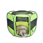 New Small Pet Dog Cat Tent Playpen Exercise Play Pen Soft Crate 6 Sided Portable