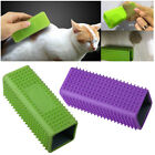1x Silicone Pet Dog Cat Hair Fur Remover Brush Cleaner Car Carpet Seat Comb Tool