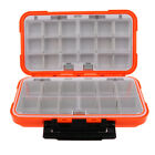 Plastic 16/30 Compartments Fishing Lure Tackle Box Two-Sided Storage Case